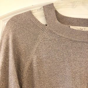 Loft Cold Shoulder Bell Sleeve Sweater